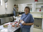 Photo: church members cleaning kitchen