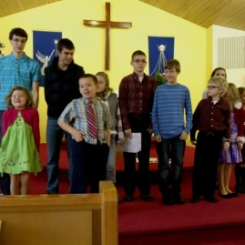 Our young members after the Children's Christmas Program