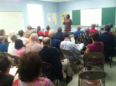The Rev. CeCee Mills leads a workshop on Outreach and Evangelism