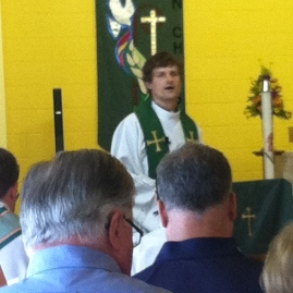 The Rev. Mark Parker served as the preacher for the day