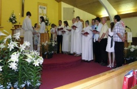 A baptism at Easter